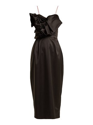 Anna October ruffled satin midi dress