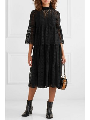 Anna Sui crocheted cotton-blend lace midi dress