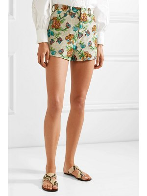 Anna Sui dark side of the moon cotton-blend jacquard shorts