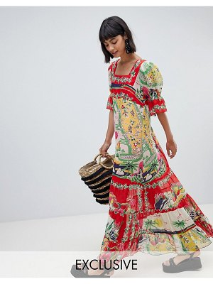 Anna Sui Exclusive Maxi Dress in Florida Sunshine Print