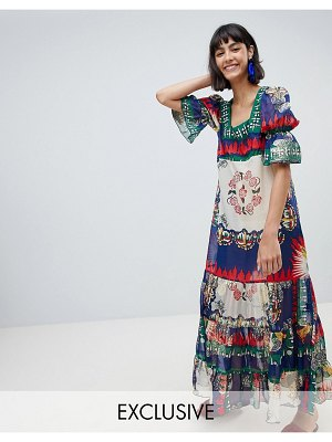 Anna Sui Exclusive Maxi Dress In New York Print