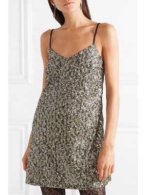 Anna Sui twinkling stars at night sequined mesh mini dress