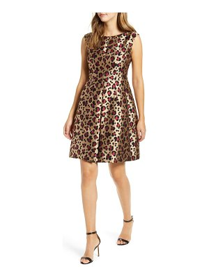 Anne Klein animal jacquard fit & flare dress