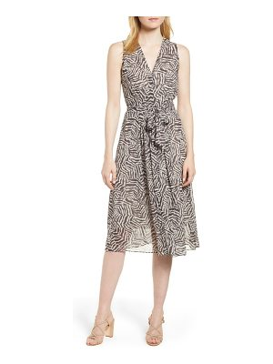 Anne Klein animal print chiffon midi dress