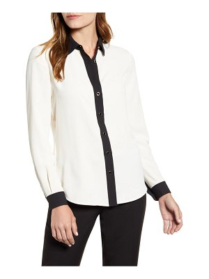 Anne Klein button front blouse