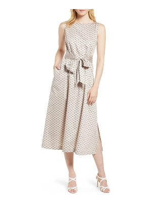 Anne Klein carlyle dot midi cotton dress