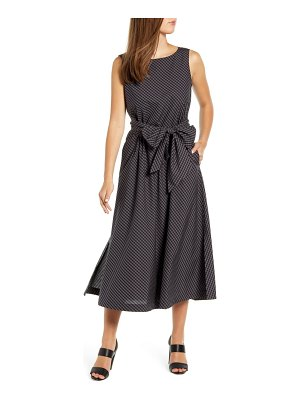 Anne Klein check cotton midi dress