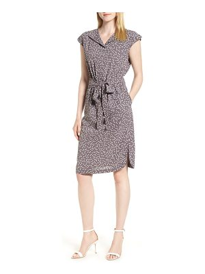 Anne Klein dot print a-line dress