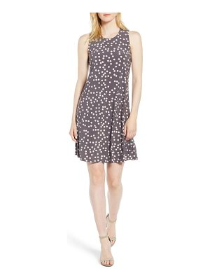 Anne Klein dot print swing dress
