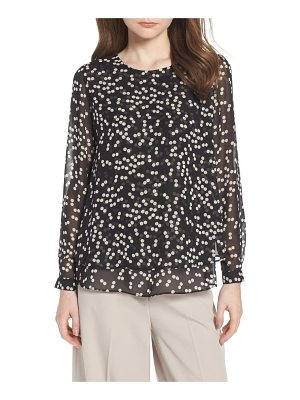 Anne Klein double layer dot print blouse