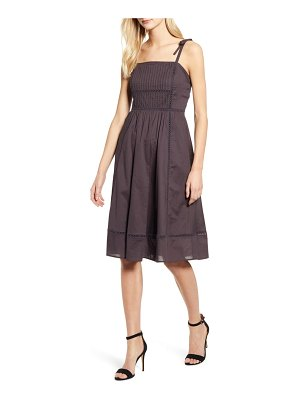 Anne Klein embroidered fit & flare dress