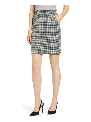 Anne Klein houndstooth pencil skirt