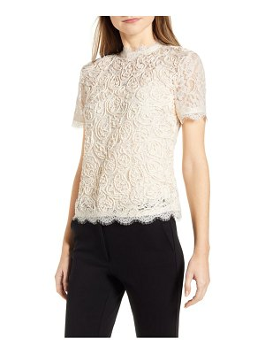 Anne Klein lace short sleeve blouse