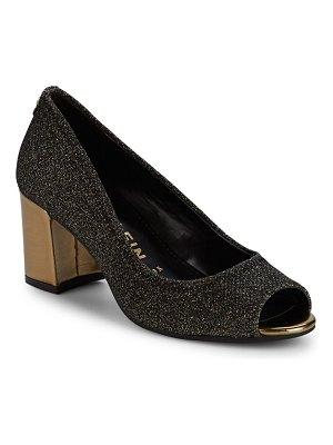 Anne Klein Meredith Lurex Peephole Pumps