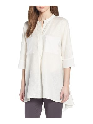 Anne Klein mixed media linen tunic