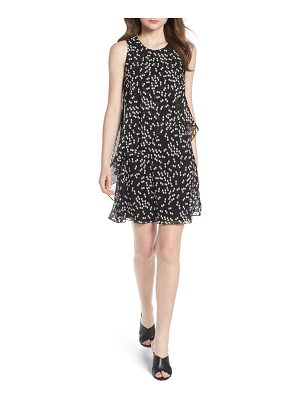 Anne Klein new york dot print chiffon overlay dress