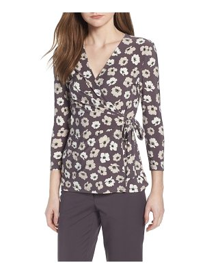 Anne Klein new york faux wrap floral top