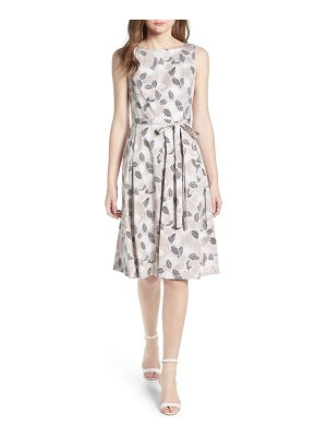 Anne Klein new york leaf print fit and flare dress