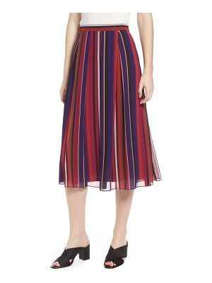 Anne Klein new york striped midi skirt