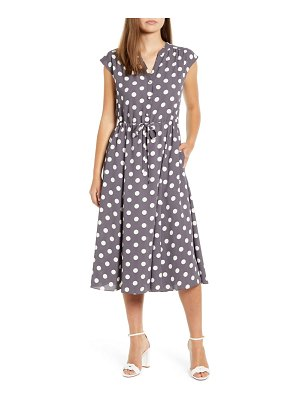 Anne Klein polka dot midi dress