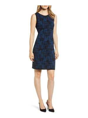 Anne Klein print sweater tank dress