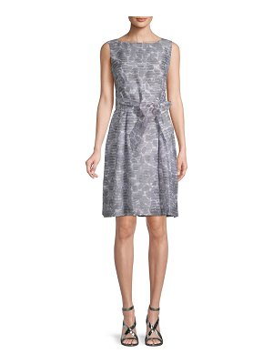 Anne Klein Rosewater Shadow Stripe A-Line Dress