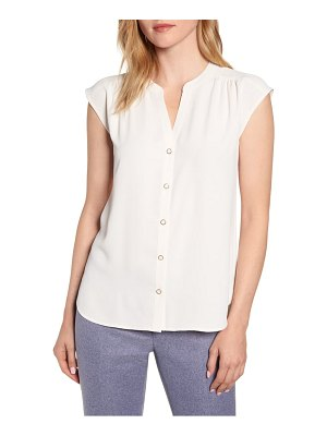 Anne Klein sleeveless button-up blouse