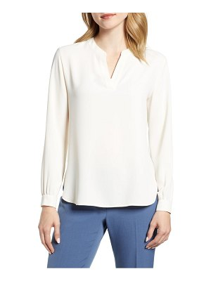 Anne Klein split neck blouse