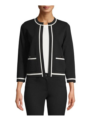 Anne Klein tipped cropped cardigan