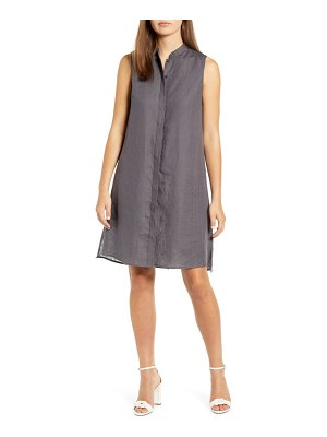 Anne Klein trapeze linen shirtdress