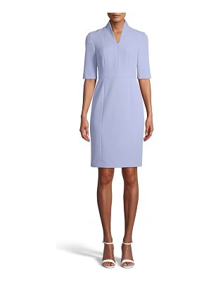 Anne Klein zip front sheath dress