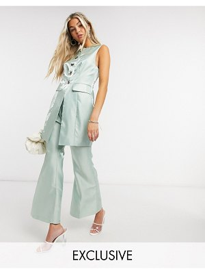 Annorlunda flare pants coord-green