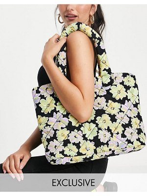 Annorlunda tote shopper bag in quilted floral-multi