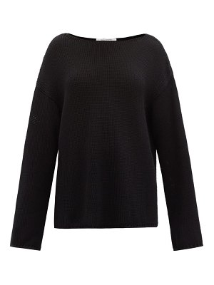 Another Tomorrow boat-neck organic-cotton sweater