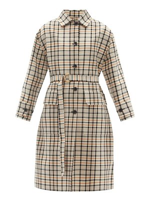 Another Tomorrow reversible checked organic-cotton trench coat