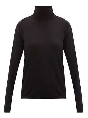 Another Tomorrow roll-neck wool-blend sweater