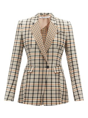 Another Tomorrow single-breasted checked cotton-blend twill jacket
