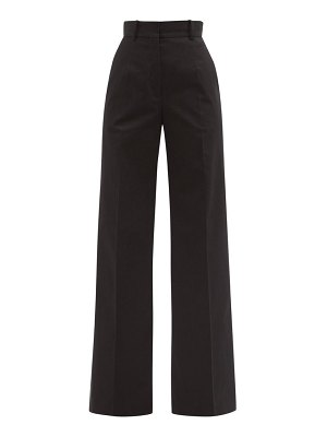 Another Tomorrow tailored cotton-blend wide-leg trousers