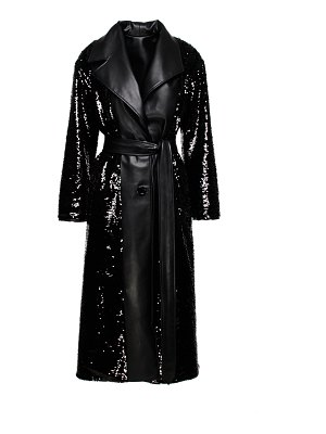 Anouki faux leather reversible trench