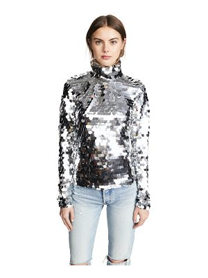 Anouki silver sequin turtleneck