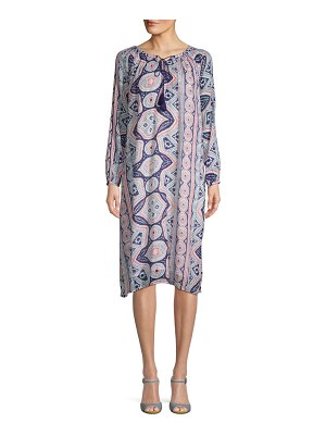 Antik Batik Djellabah Printed Cotton Shift Dress