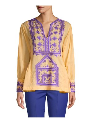 Antik Batik Embroidered Cotton Blouse
