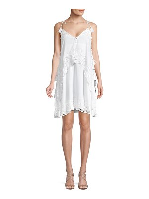Antik Batik Popover Eyelet Shift Dress