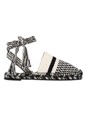 ANTOLINA PARIS 20mm woven cotton lace-up espadrilles