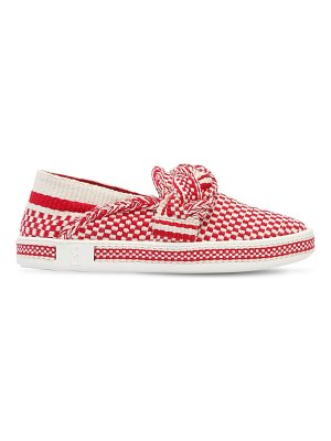 ANTOLINA PARIS 20mm woven cotton slip-on sneakers