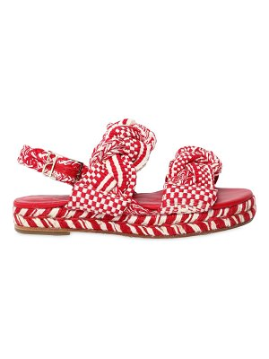 ANTOLINA PARIS 30mm woven cotton platform sandals