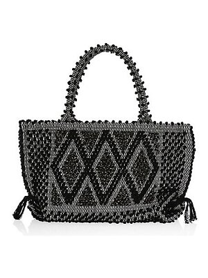Antonello Tedde medium capriccioli rombi knit tote bag