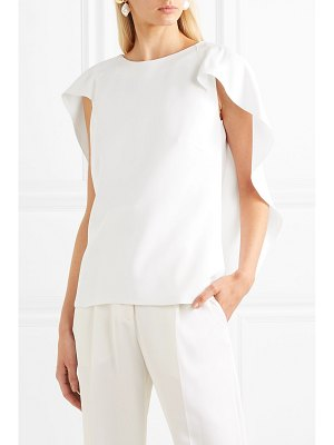 Antonio Berardi cape-effect cady blouse