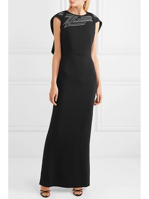 Antonio Berardi cape-effect crystal-embellished crepe gown