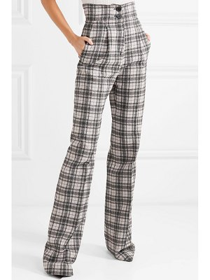 Antonio Berardi checked crepe wide-leg pants
